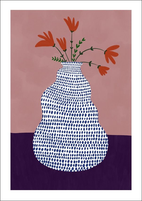 Wazon - plakat wymiar do wyboru: 40x50 cm