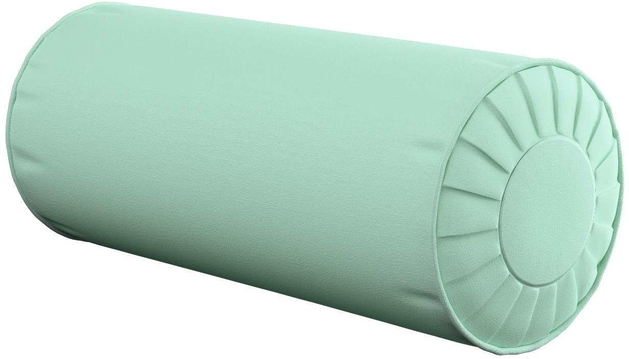 Poduszka wałek z zakładkami, miętowy, Ø20  50 cm, Loneta