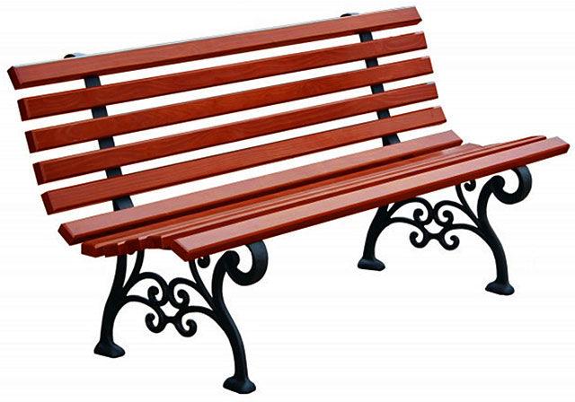 Romantyczna ławka parkowa Halszka 150 cm - 7 kolorów