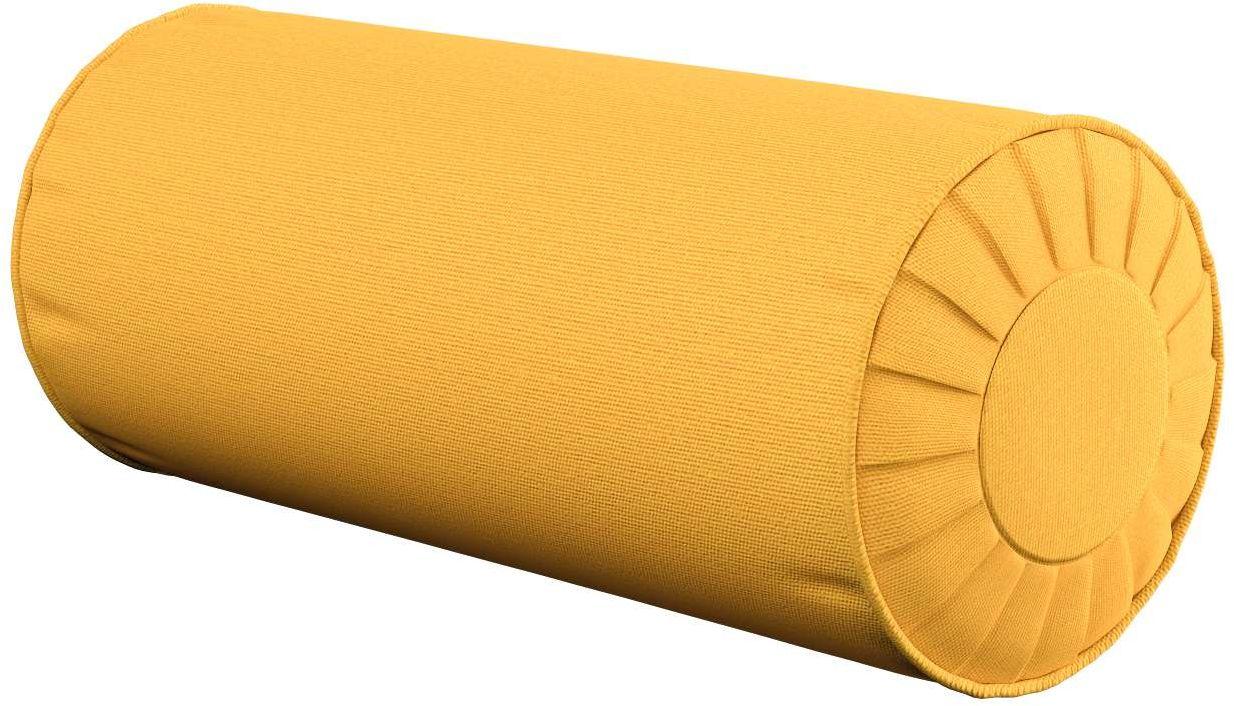 Poduszka wałek z zakładkami, żółty, Ø20  50 cm, Loneta