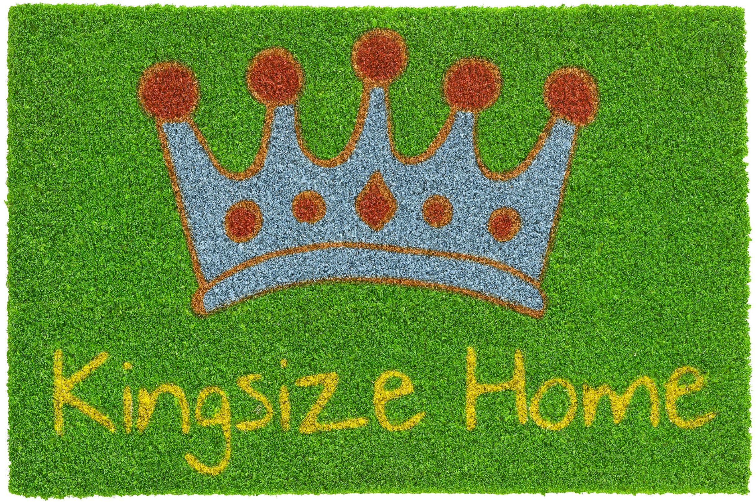 HMT 147408 wycieraczka, z włókna kokosowego, łóżko wodne, duże rozmiary, rozmiar Kingsize Home 40 x 60 cm, zielona