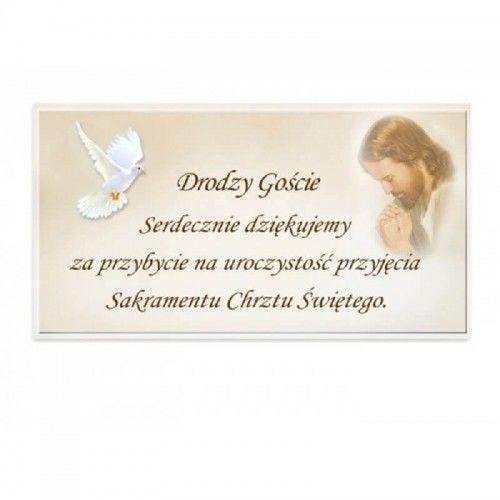 Podziękowanie dla gości Chrzest Święty, Jezus i gołąb 20 szt.