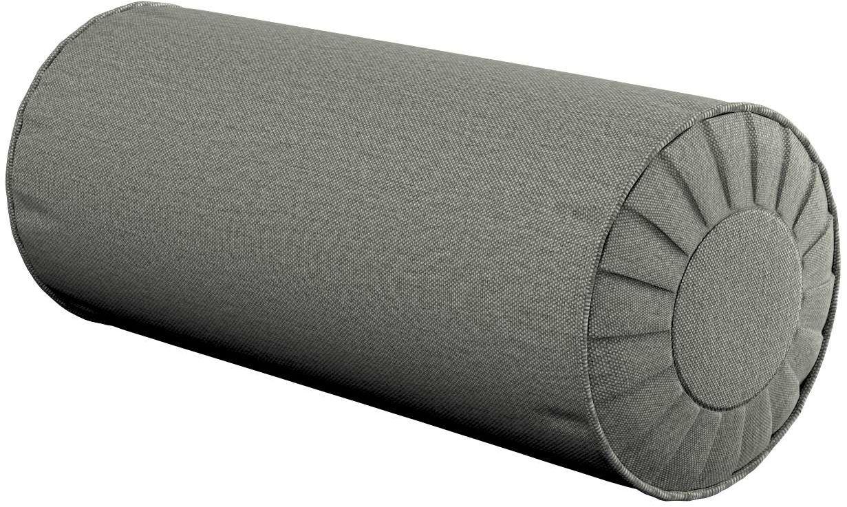 Poduszka wałek z zakładkami, szary, Ø20  50 cm, Etna