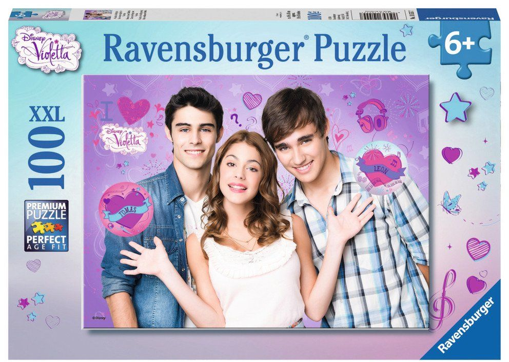 Ravensburger Puzzle dziecięce  10555 Classic  New Beginning of Violetta  100 części XXL