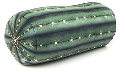 Kikkerland poduszka z kaktusem, poliester, zielony, pojedyncza