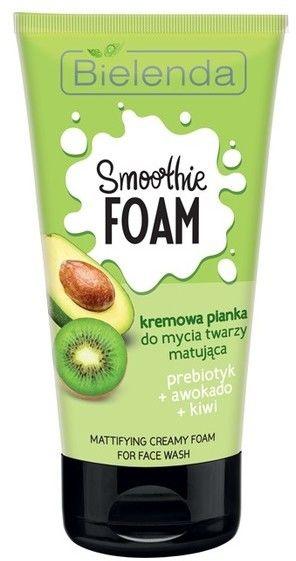 Bielenda Smoothie Foam Pianka normalizująca- prebiotyczna Awokado+Kiwi 150g