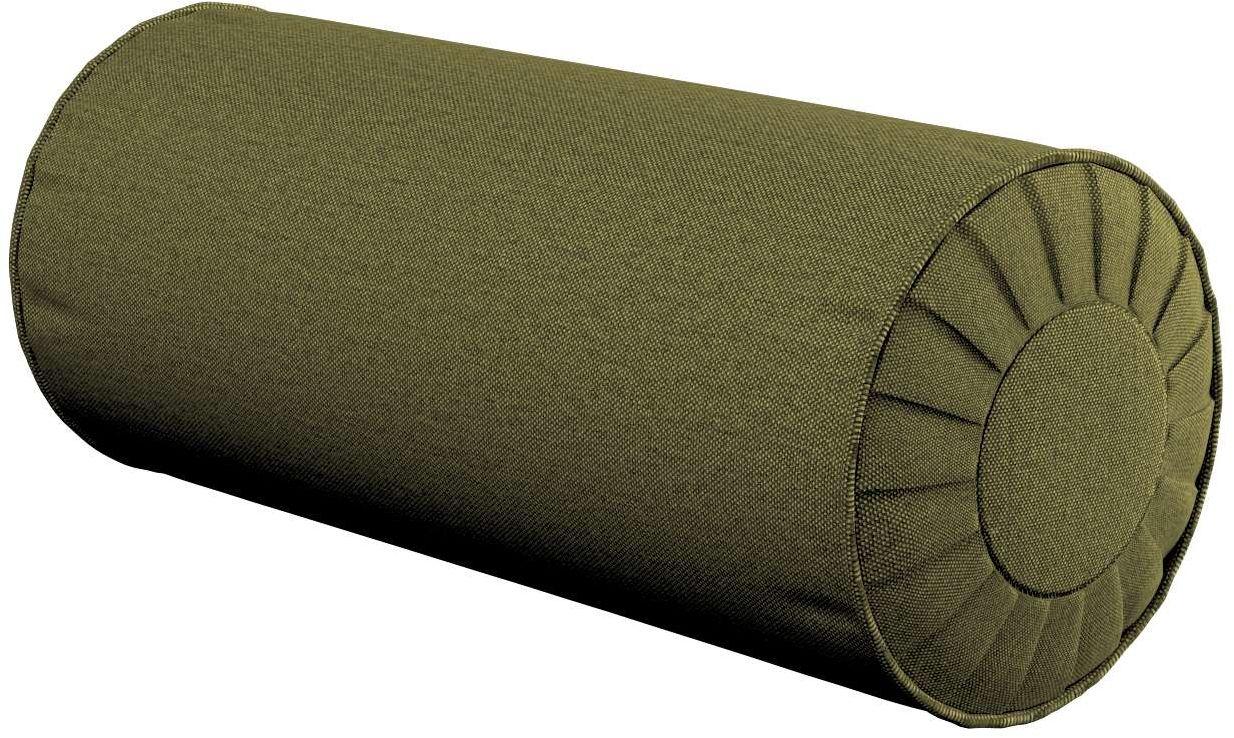 Poduszka wałek z zakładkami, oliwkowa zieleń, Ø20  50 cm, Etna