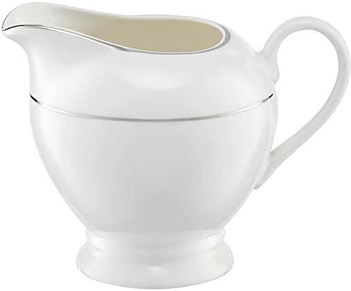 Ambition 23080 dzbanek na mleko Aura Silver 300 ml puszka na mleko dzbanek na mleko porcelana dzbanek na mleko elegancki nowoczesny