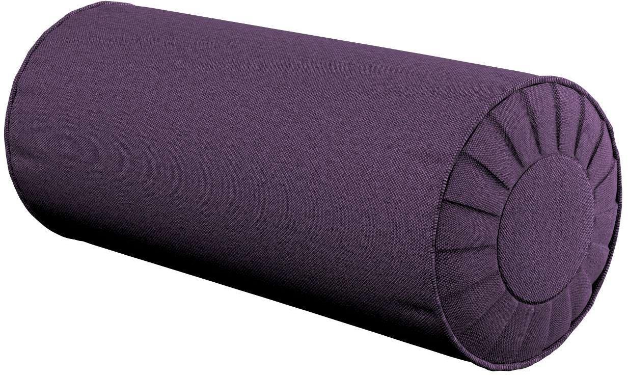 Poduszka wałek z zakładkami, fioletowy, Ø20  50 cm, Etna
