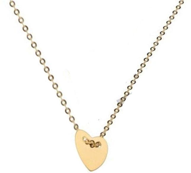 Złoty naszyjnik 333 celebrytka serce serduszko