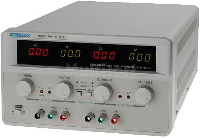 Zasilacz laboratoryjny z regulacją napięcia i prądu Kanały:2 2x0-30V 10A