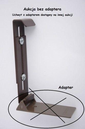Uchwyt do mocowania skrzynek na parapetach FIX-POT - 3 kolory (BEZ adaptera)