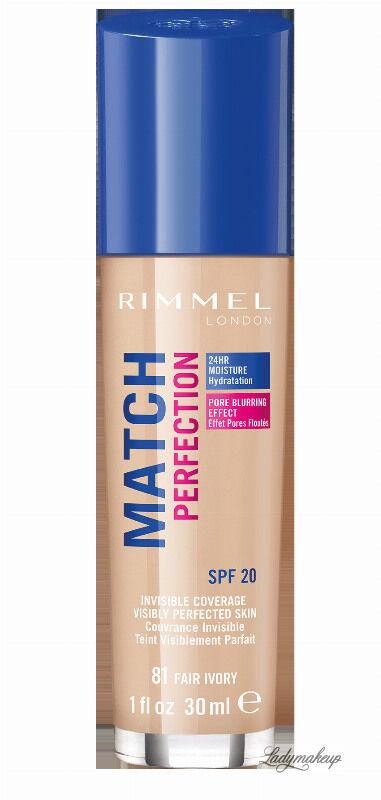 RIMMEL - MATCH PERFECTION FOUNDATION - Kryjący pokład do twarzy - 30 ml - 81 - FAIR IVORY