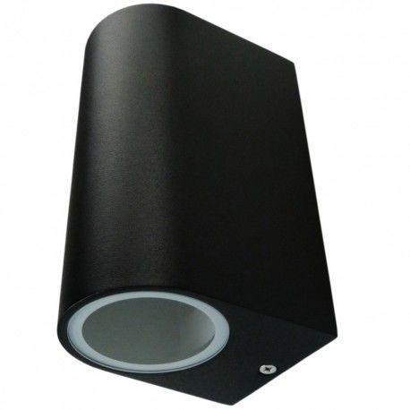 Oprawa ogrodowa 2xGU10 2x35W IP54 czarna kinkiet lampa ścienna TIAGO GTV 2151