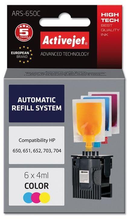 Tusz Activejet ARS-650Col (zamiennik ; 6 x 4 ml; czerwony, niebieski, żółty)