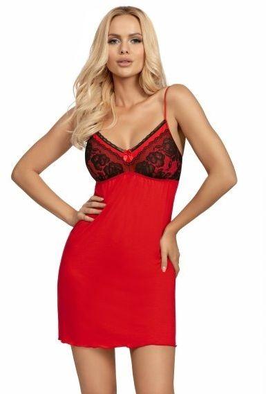 Koszula nocna patrizia czerwona donna