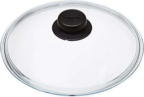 Pyrex 4937231 szklana pokrywka do garnka/patelni, 21,5 x 23 x 6,5 cm, przezroczysta