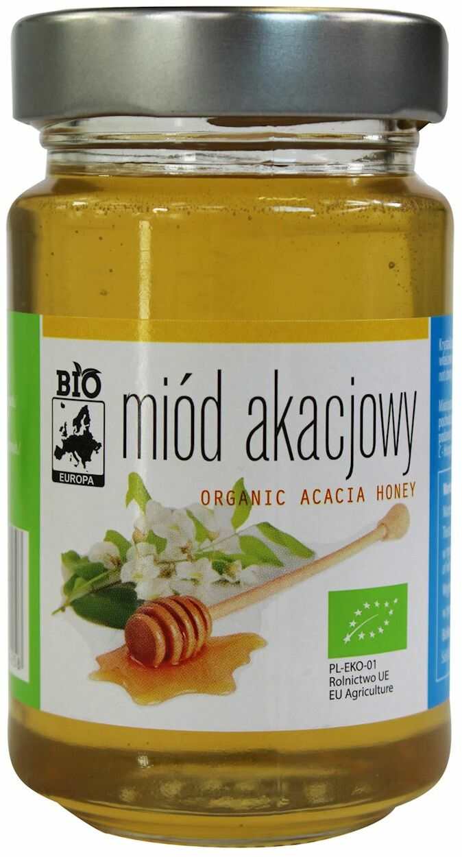 Miód akacjowy bio 300 g - bio europa
