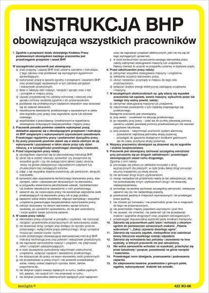 Instrukcja ogólna BHP dla pracowników, PANTA PLAST - X02916