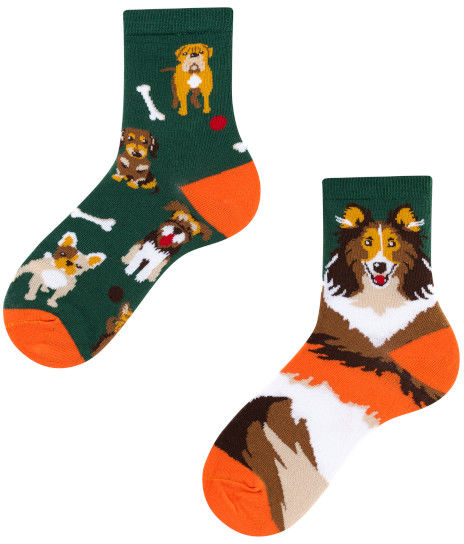 Dogs Kids, Todo Socks, Pieski, Kości, Kolorowe Dziecięce