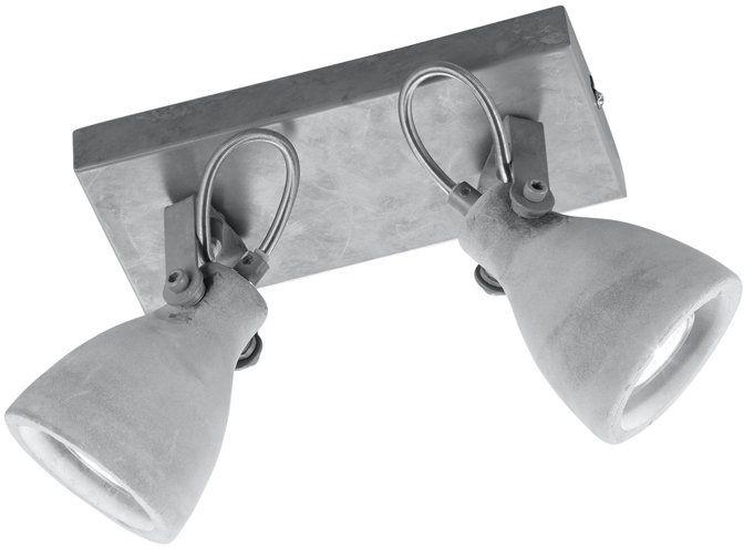 Trio Leuchten Belken Concrete 802500278, metal, klosz betonowy, 2 x GU10