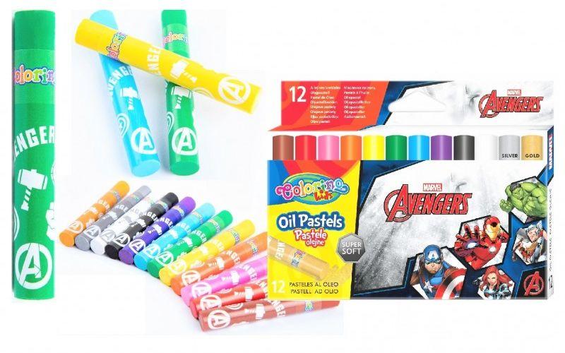 Pastele olejne 12 kolorów Avengers Colorino 91505PTR