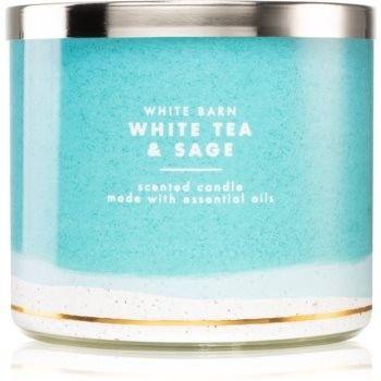 Bath & Body Works White Tea & Sage świeczka zapachowa 411 g