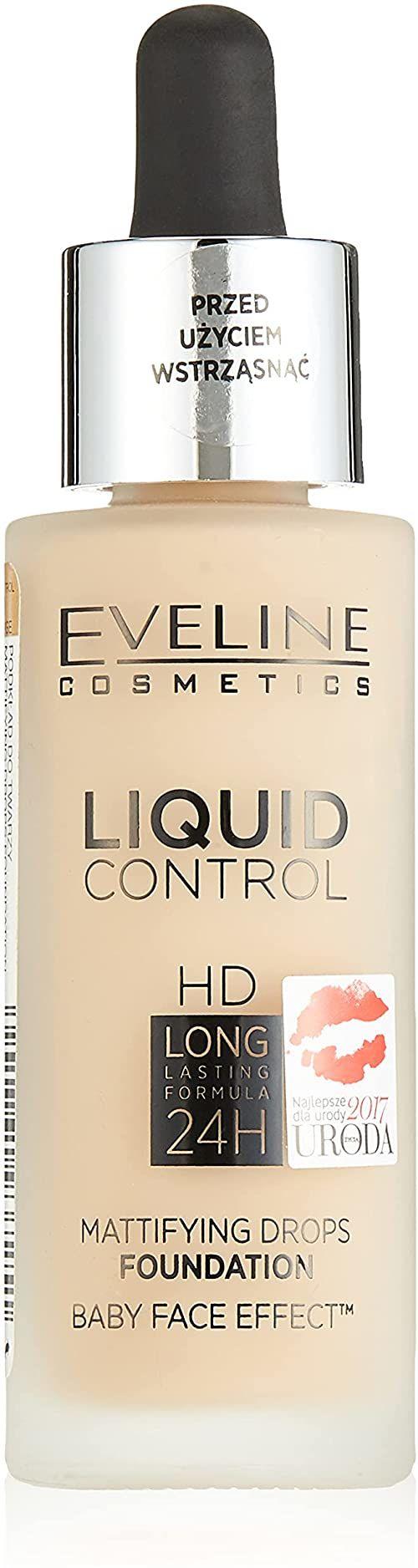 Eveline Cosmetics Liquid Control HD długotrwały podkład matujący 32 ml (020 różowy beż)