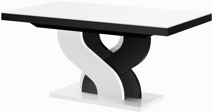 Stół rozkładany Bella biało-czarny