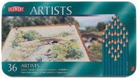 Zestaw Kredek Artystycznych Derwent Artists 36 Kolorów (Metalbox)