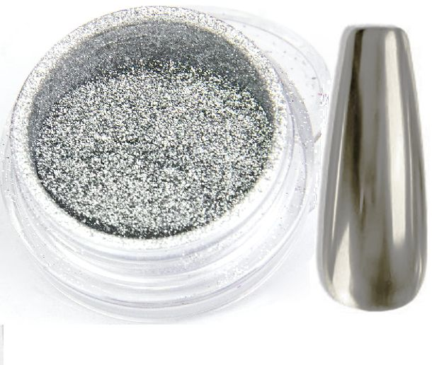 GLASS SILVER efekt lustra tafla pyłek - SREBRNY