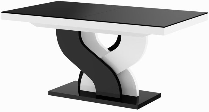 Stół rozkładany Bella czarno-biała