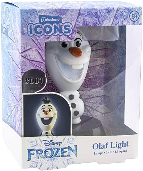 Paladone Olaf icon Light oficjalny kolekcjonerski z motywem Krainy Lodu Idealny do sypialni dla dzieci, biura i domu popkultura artykuły do gier, około 10 cm wysokości