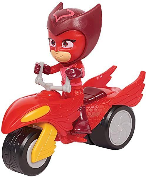 Simba 109402245 - PJ Masks Rover Eulette / z figurą superbohaterów / z uchwytem dystansowym i akcesoriami / czerwony / figurka 8 cm wielkości, dla dzieci od 3 lat