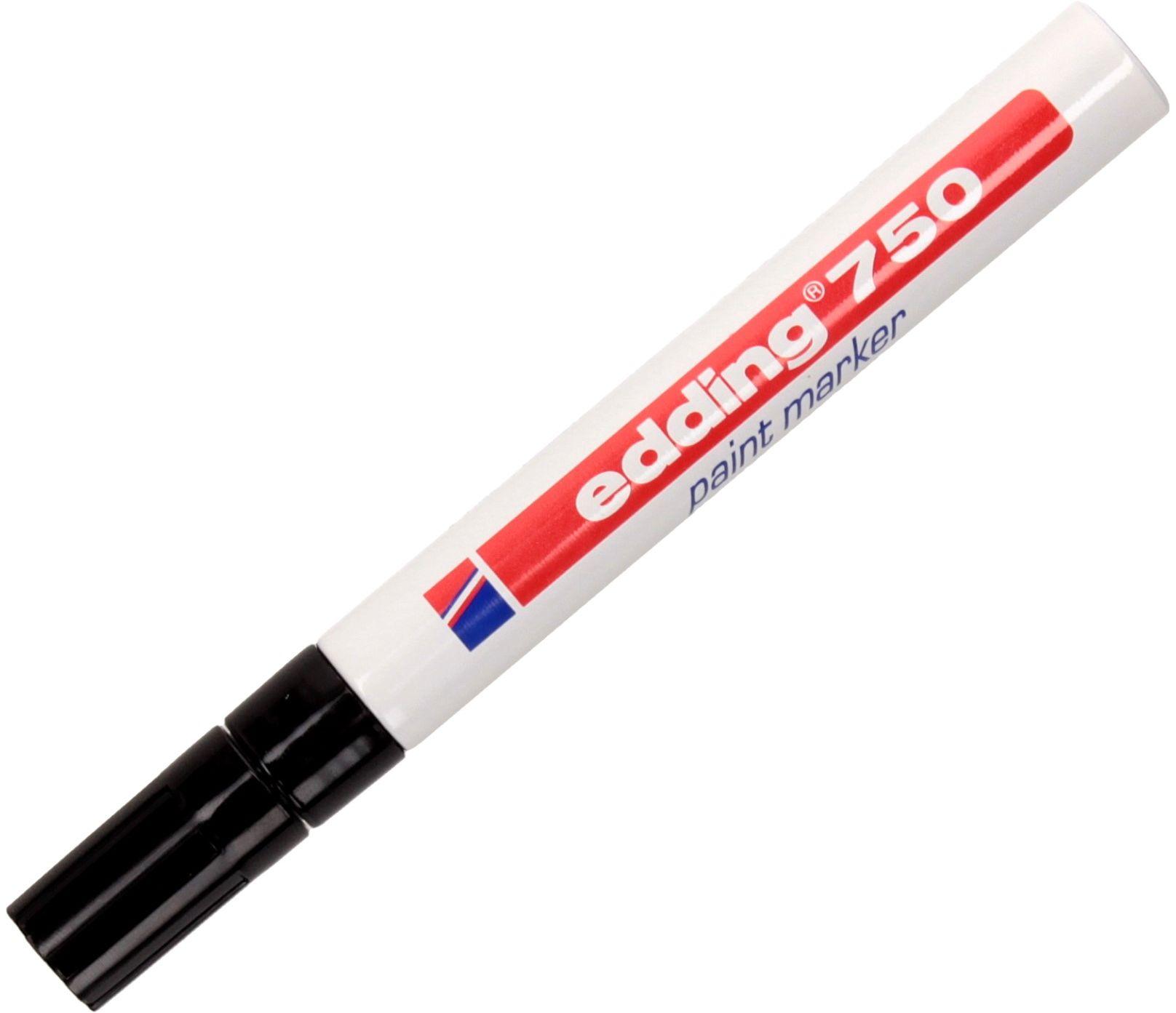 Marker olejowy 2.0-4.0mm czarny okrągły Edding 750