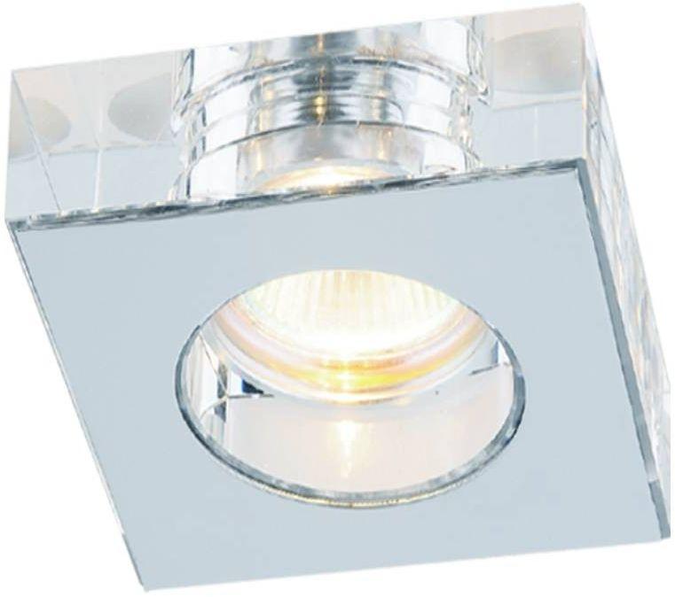Oprawa podtynkowa kwadratowa Astro cromo szklana chrom kwadratowa - Orlicki Design Do -17% rabatu w koszyku i darmowa dostawa od 299zł !