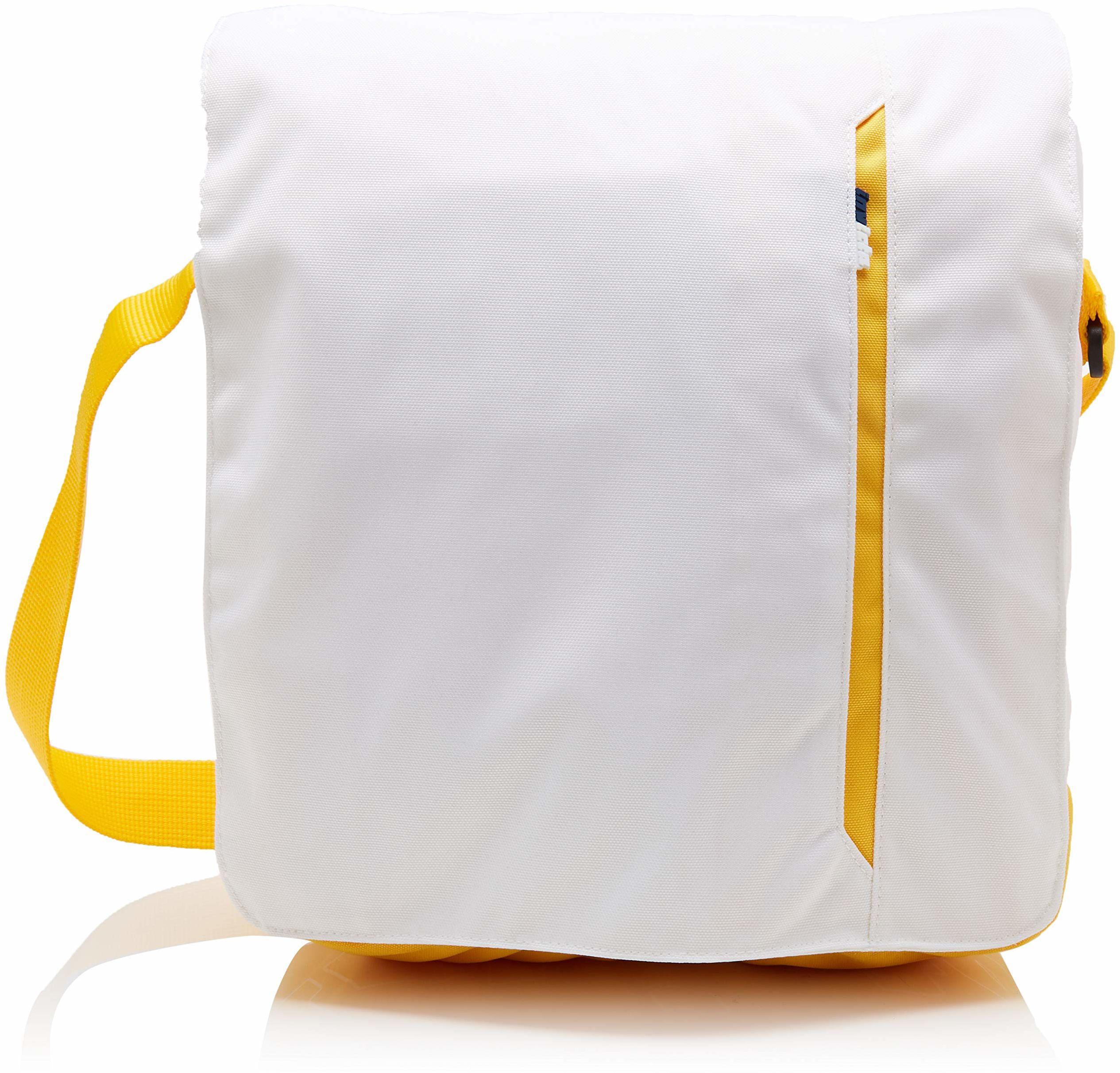 Invicta Torba kurierska w średnim kolorze na ramię, 30 cm, 9 litrów, biała (Bianco Arancione)