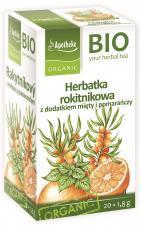 Herbatka ROKITNIKOWA z dodatkiem mięty i pomarańczy BIO 20 x 1,8 g Apotheke