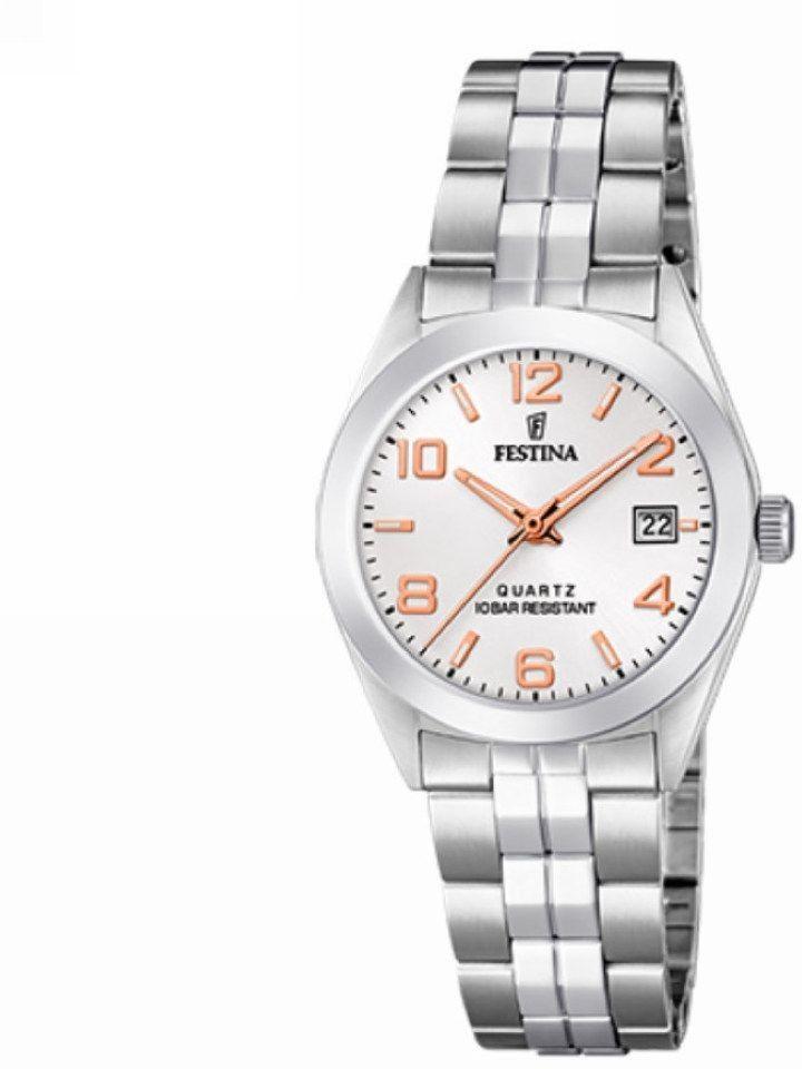 Zegarek Festina F20438-4 Classic Bracelet - CENA DO NEGOCJACJI - DOSTAWA DHL GRATIS, KUPUJ BEZ RYZYKA - 100 dni na zwrot, możliwość wygrawerowania dowolnego tekstu.