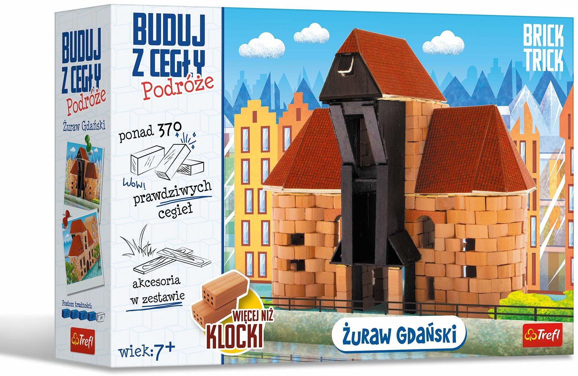 Trefl Buduj z Cegły - Podróże, Żuraw Gdański XL, Zestaw Kreatywny