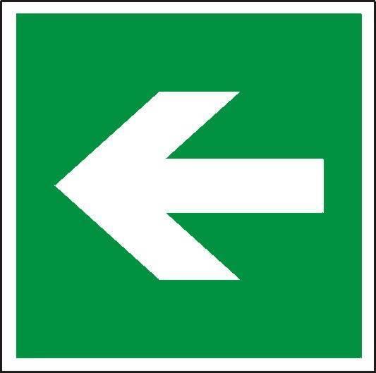 Znak - kierunek drogi ewakuacyjnej mały - X02923