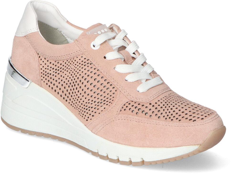 Adidasy na Koturnie Marco Tozzi Różowe