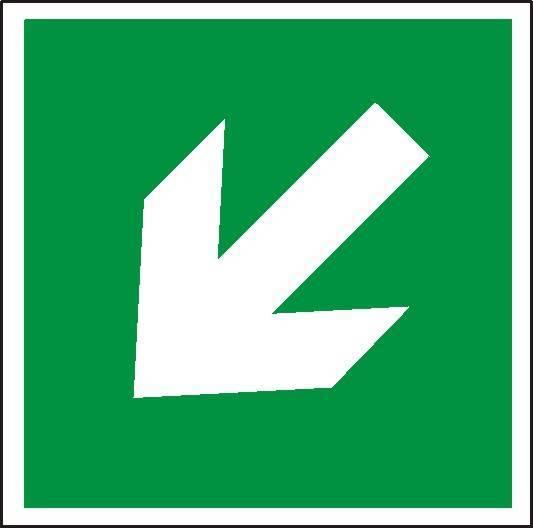 Znak - kierunek drogi ewakuacyjnej w dół - X02924