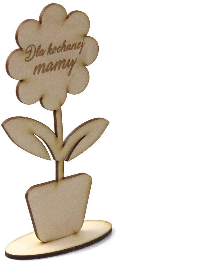 Drewniana dekoracja kwiat Dla kochanej mamy
