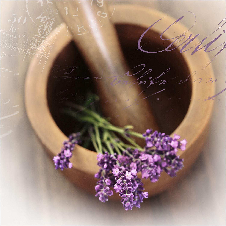"""Pro-Art gla728a obraz na ścianę Glas-Art """"Lovely lavender I"""", 30 x 30 cm"""