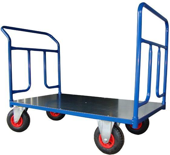 Dwuburtowy wózek platformowy, blacha (1200x700), 250 kg