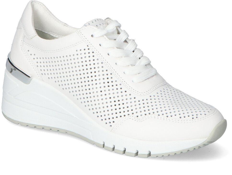 Sneakersy Marco Tozzi 2-23500-26 Białe zamsz