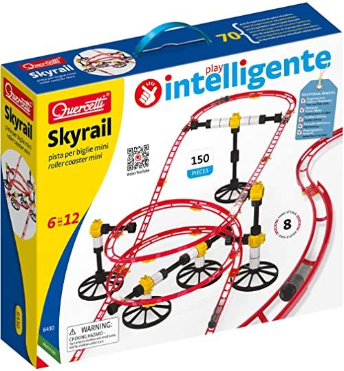 Quercetti 6430 Rollercoaster Mini Rail 6430-Rollercoaster, kolorowa