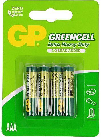 Bateria R03 AAA 1,5V GP Greencell cynkowo-chlorkowa blister 4szt.