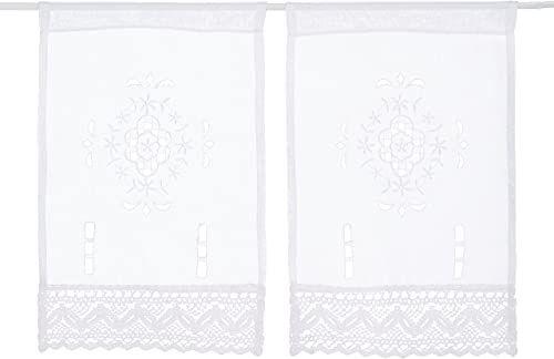 Home fashion obrazy na okno, struktura płótna, tkanina, biała, 45 x 30 cm